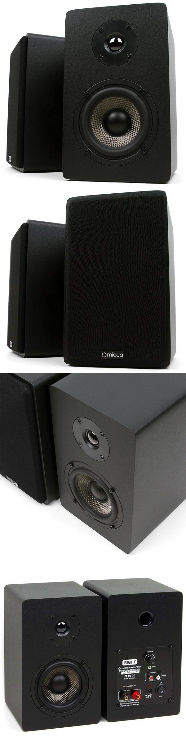 Micca PB42X Powered Bookshelf Speakers Black