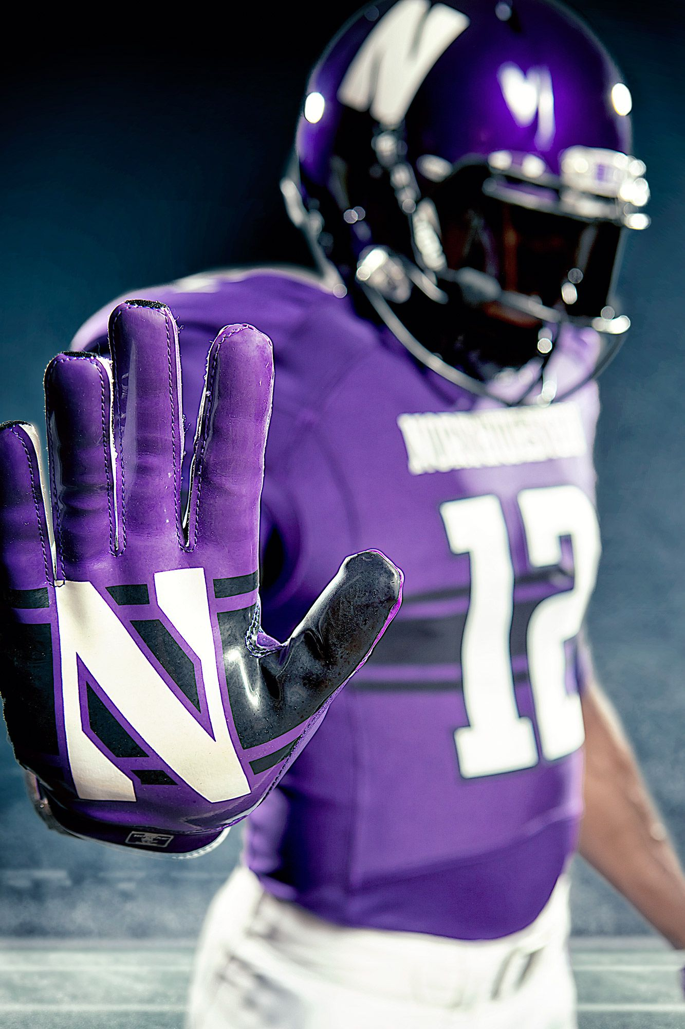 The N Never Comes Off Football Uniforms College Football