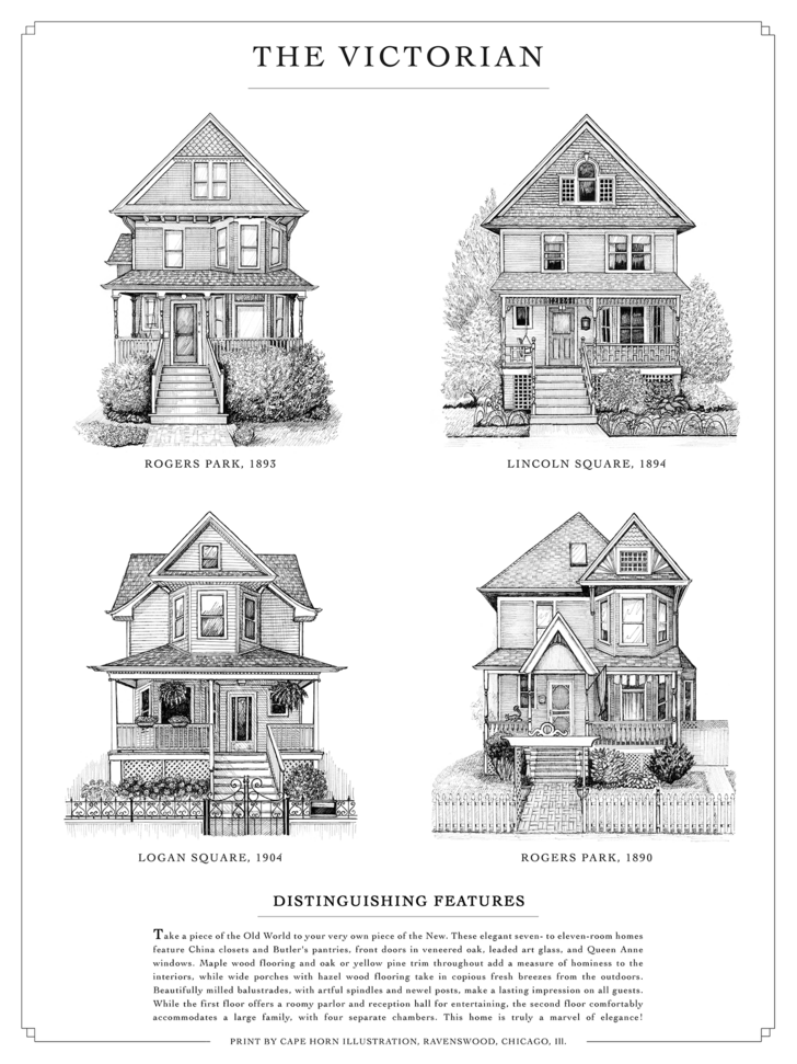 The Chicago Home Styles Architecture Victorian Architecture Architecture Fashion