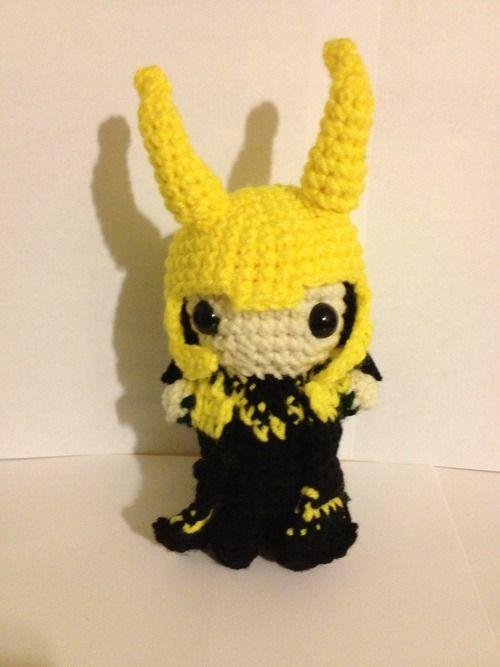 Loki with a Detachable Helmet Doll - Free Amigurumi Pattern here ...