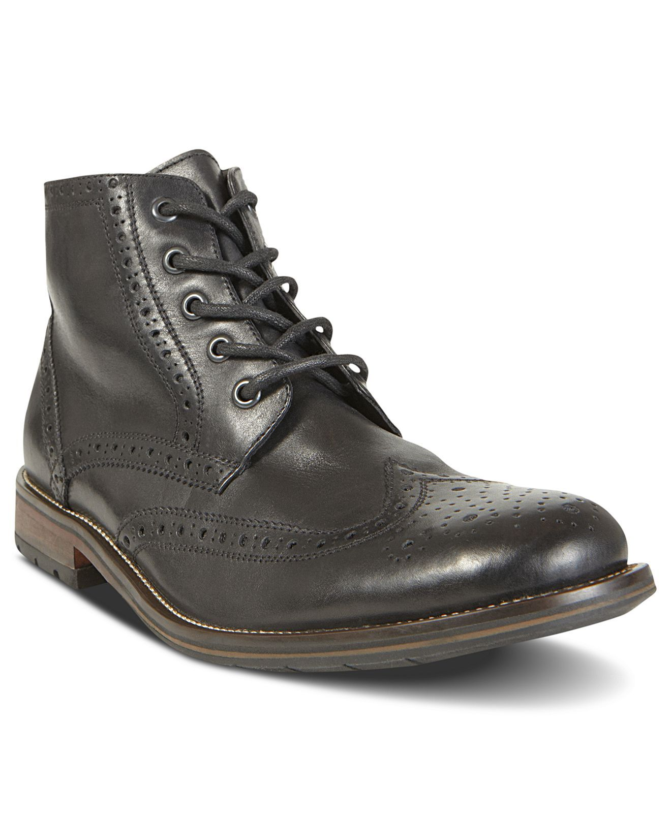 Steve Madden Shoes, Evander2 Wingtip Boots - Mens Shoes - Macy's