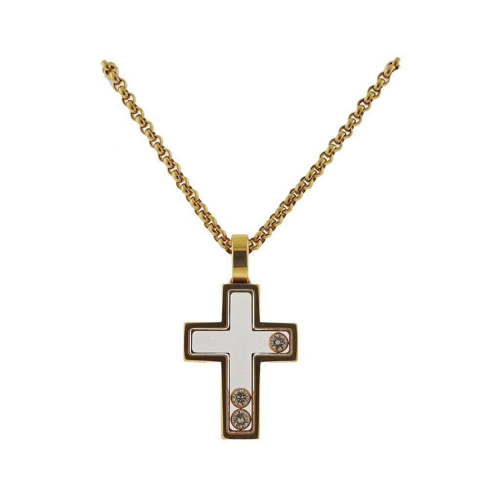 Chopard happy diamonds 18k gold cross pendant necklace 794009 chopard happy diamonds 18k gold cross pendant necklace 794009 aloadofball Image collections