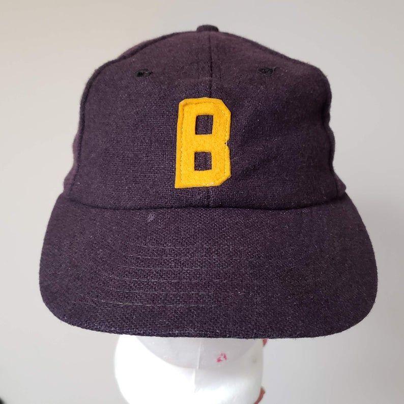 Vintage Baseball Cap Wool Hat Vintage 50s Navy Blue Wool Cap Etsy Vintage Baseball Caps Hats Vintage Wool Caps