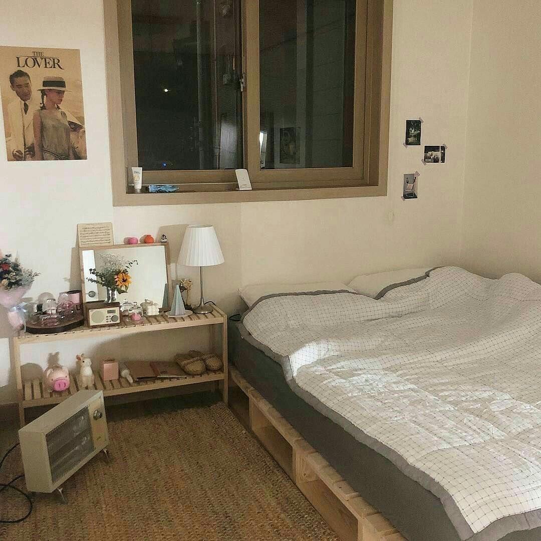 Interior Design Aesthetic: Bedroom Soft Minimalistic Aesthetic Home Interior Korean