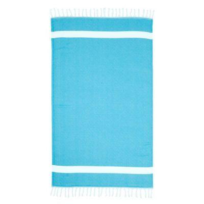 Linum Home Textiles Diamond Pestemal Beach Towel In Turquoise