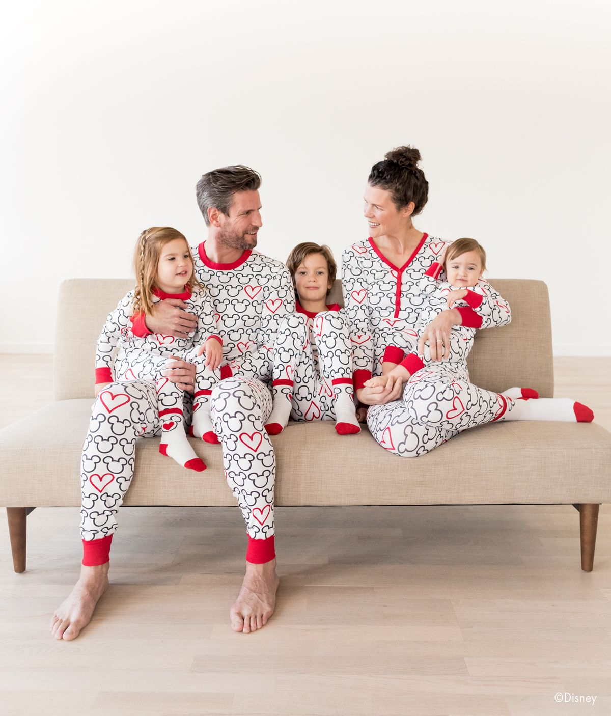 b46191f9c Disney Mickey Mouse Organic Cotton Family Matching Pajamas by Hanna ...