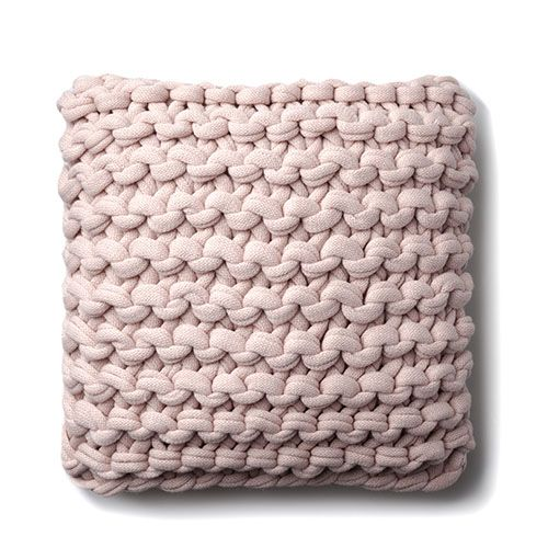 Chunky Knit Dusty Pink Cushion | Texture in 2019 | Pink cushions ...