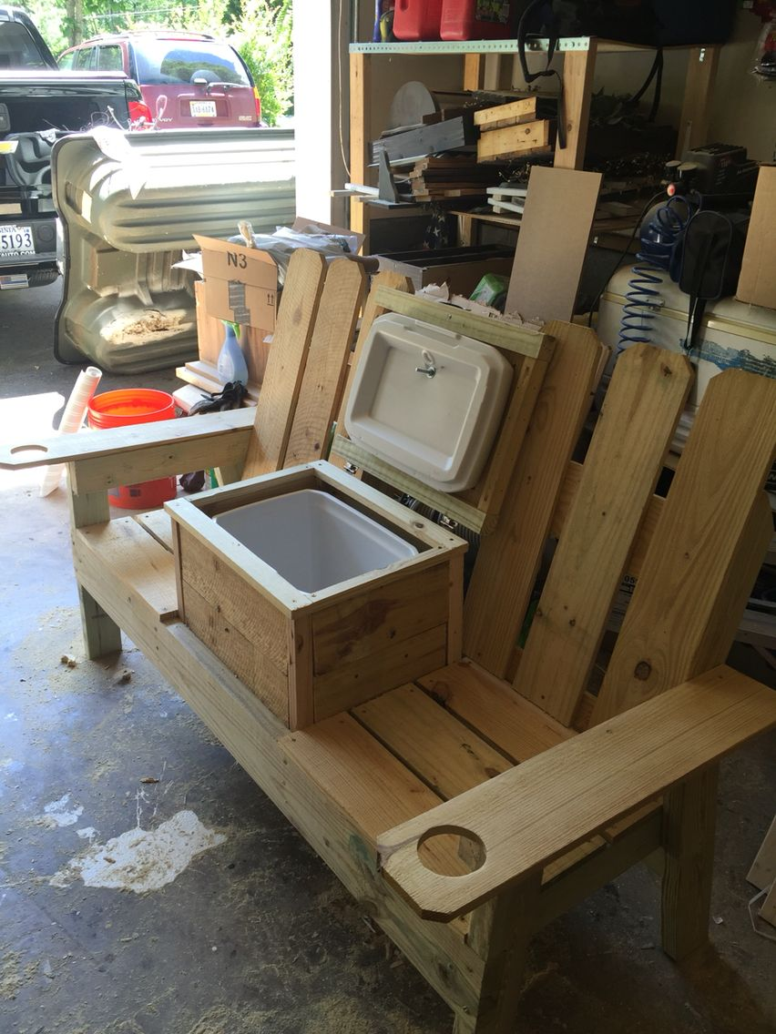 Groovy Jack N Jill Bench Adirondack Bench Cooler In 2019 Diy Gmtry Best Dining Table And Chair Ideas Images Gmtryco