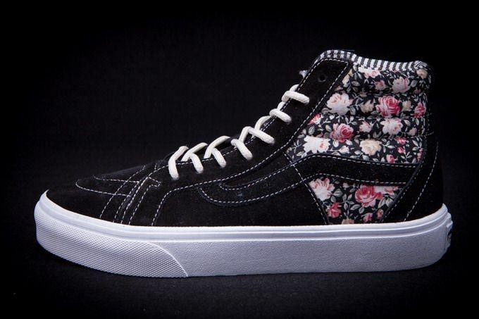 e47093fb74 Vans SK8-Hi Floral Mix California Black Womens Shoes  Vans ...