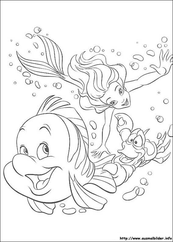 Arielle Die Meerjungfrau Malvorlagen Ausmalbilder Malvorlagen Malbuch Vorlagen