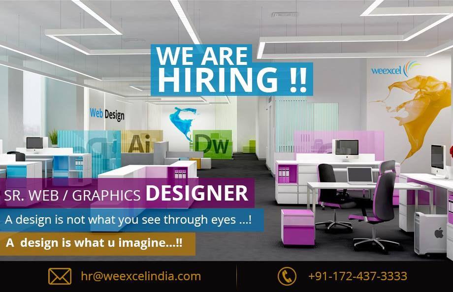 Weexcel is looking for srwebgraphic designer at