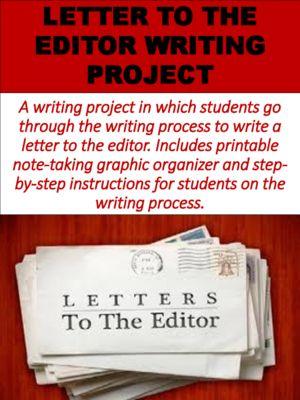 LetterToTheEditorWritingProjectFromMzSEnglishTeacherOn