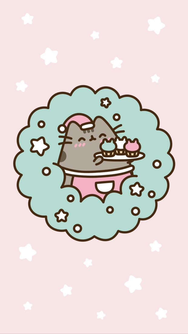 Pusheen Christmas wallpaper iPhoneX iPhoneXSwallpaper