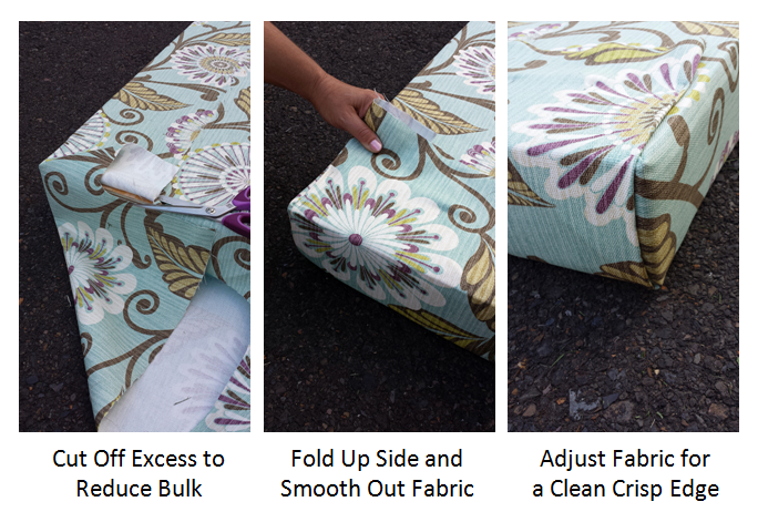 Just staple and go no sew window seat cushions