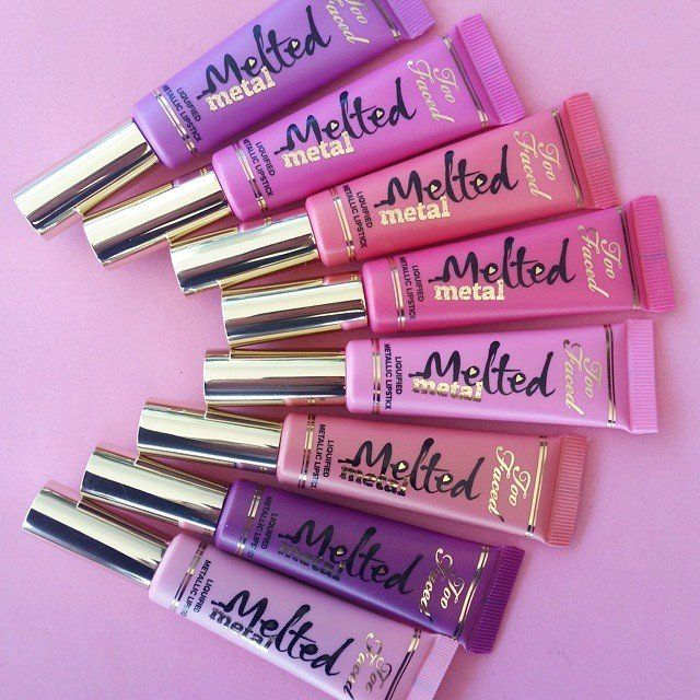 #Sephora 2015 Facebook/Instagram/Twitter Fan Pick: Too Faced Melted Metal. A metallic, liquefied lipstick in washes of glazed, metallic colors that comfortably melts onto lips.