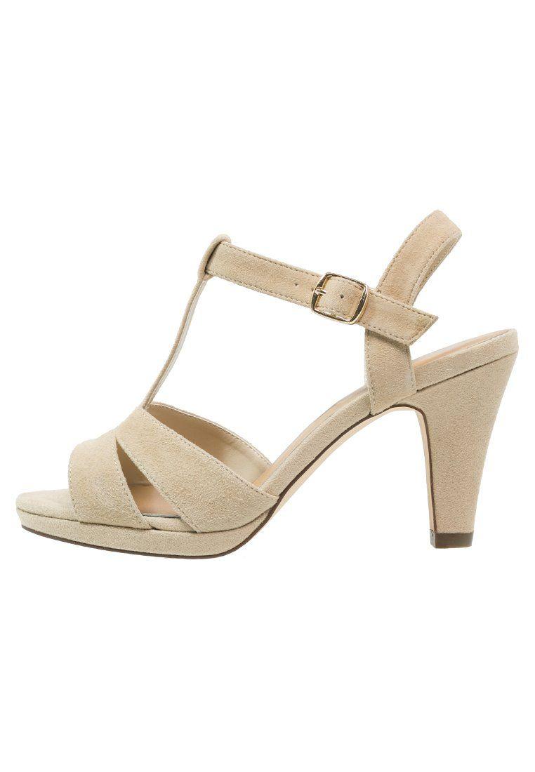 Bestill Pier One Sandaler med høye hæler - beige for kr 499,00 (27.03.16) med gratis frakt på Zalando.no