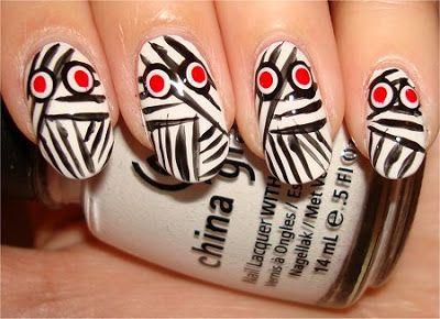 No se pierdan los diseños exclusivos de Uñas para Halloween! En Todos Aman a Pepina http://todosamanapepina.blogspot.com.ar/search/label/u%C3%B1as%20halloween