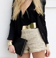Gold/black outfit