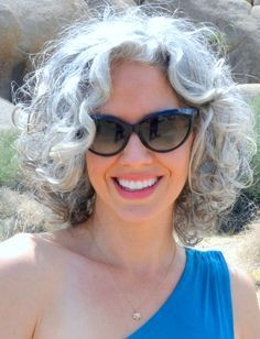 image result for grey chin length wavy bob in a