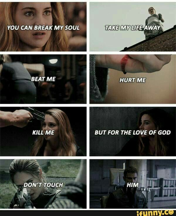 You can break my soul. Take my life away. Beat me. Hurt me. Kill me. But for the love of God, don't touch him.
