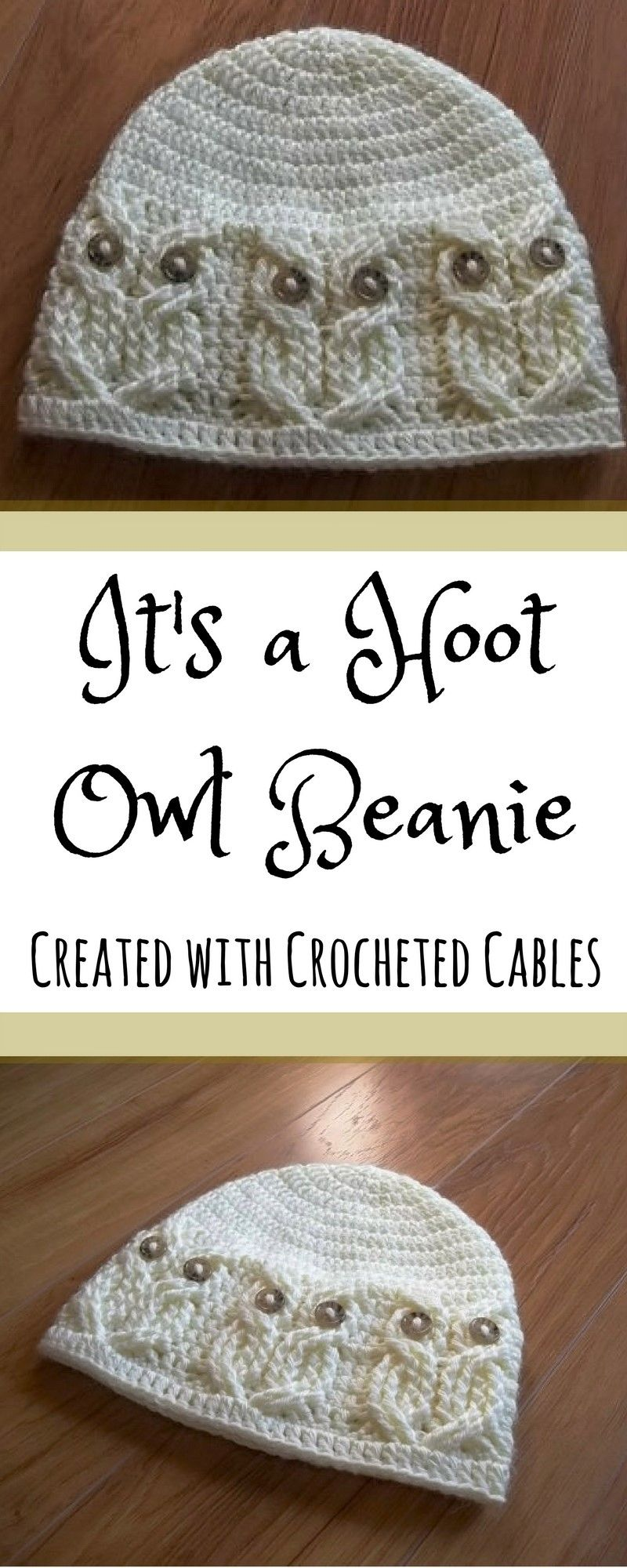 Crochet PATTERN-It s a Hoot -Owl Hat. Adult f5cc697425a