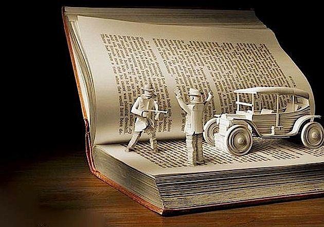 Alte Bücher kann man doch nicht wegwerfen! Nein, da kann man noch - moderne skulpturen wohnzimmer