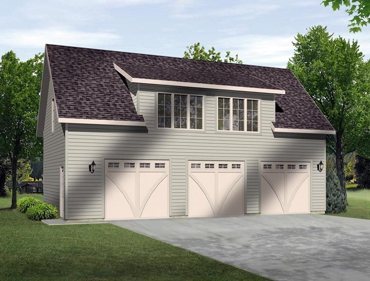 3 Car Garage Plan Number 45131 Garage Apartments Car Garage Garage Plans