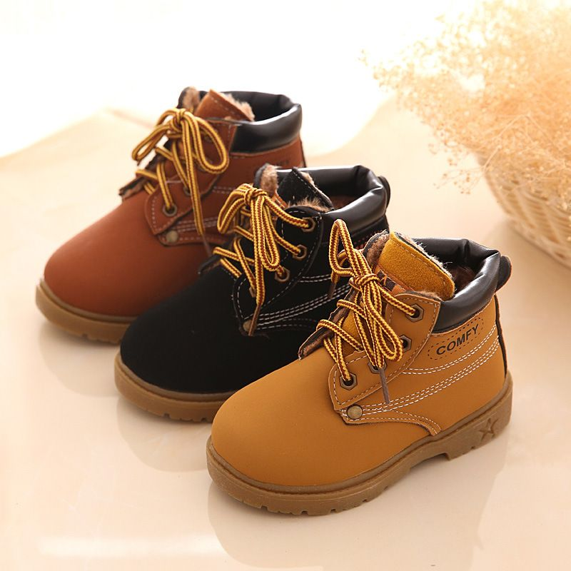 Toddler Baby Children Warm Boys Girls Kid Martin Sneaker Boots Snow Casual Shoes