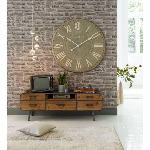 superior einfache dekoration und mobel blickfang design tapeten #1: Die Tapete in rustikaler Steinwand-Optik wird zum angesagten Blickfang in  jedem Raum