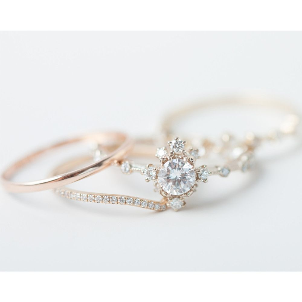 unique vintage in rings ring leaf camellia style gold white carat design diamond media engagement