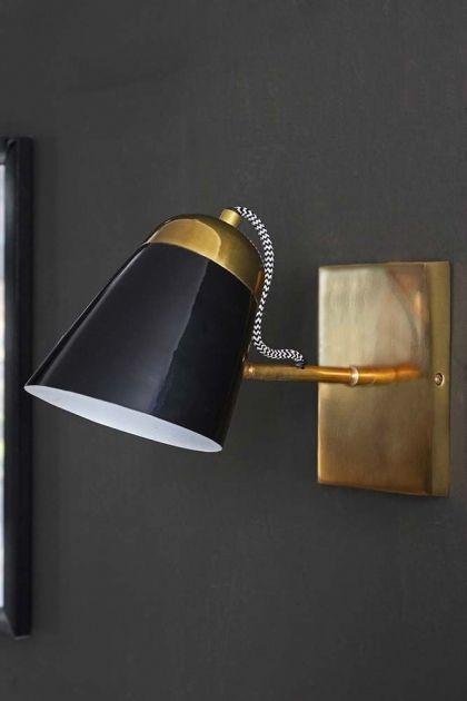The Mortimore Wall Light Brass Gloss Black Rockett St George In 2020 Brass Wall Light Wall Lights Wall Lights Antique Brass