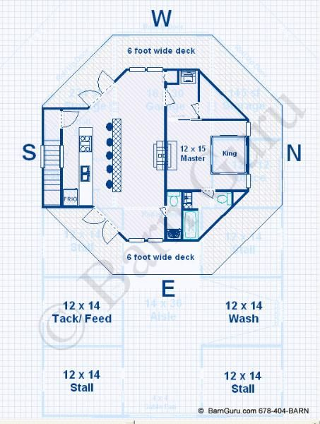 Barn Plans 4 Stall Horse Barn Living Quarters Design Floor Plan Barn With Living Quarters Barn Plans Horse Barn Designs