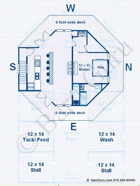 Barn Plans Stall Horse Barn Living Quarters Design Floor Plan