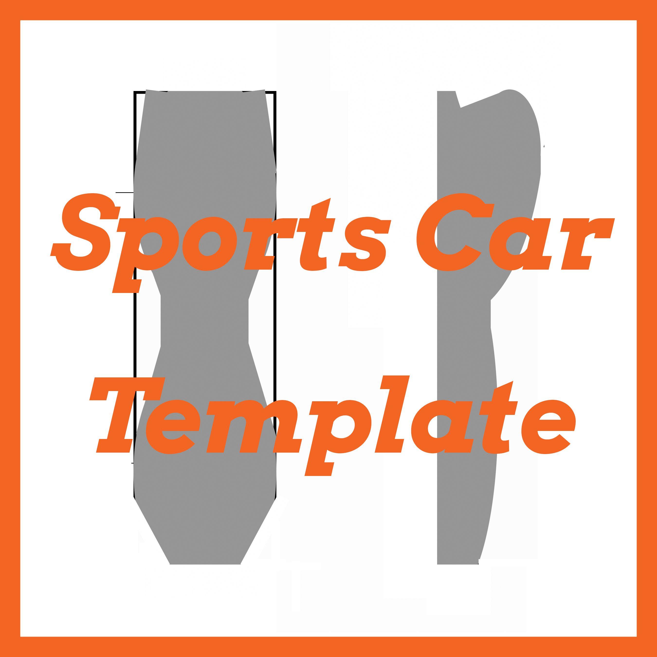 Awana Grand Prix / Pinewood Derby Sports Car Template | DIY ...