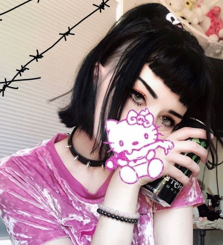 Grunge Pink Goth Aesthetic