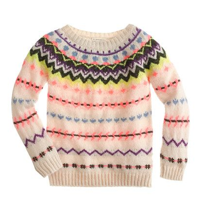 J.Crew - Girls' zigzag Fair Isle sweater | Serafina Things to Buy ...