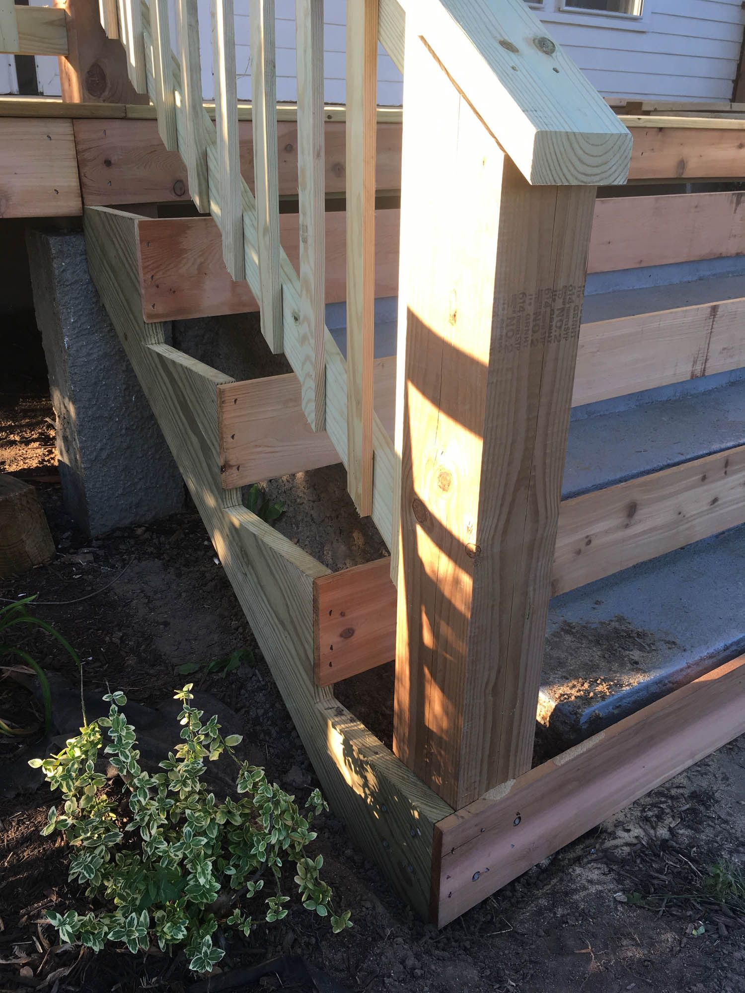 Best How To Cover Concrete Steps With Wood Porch Steps Front 400 x 300