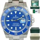 Papers Rolex Submariner Blue Smurf 116619 White Gold Ceramic Watch #Rolex #Watch #rolexsubmariner