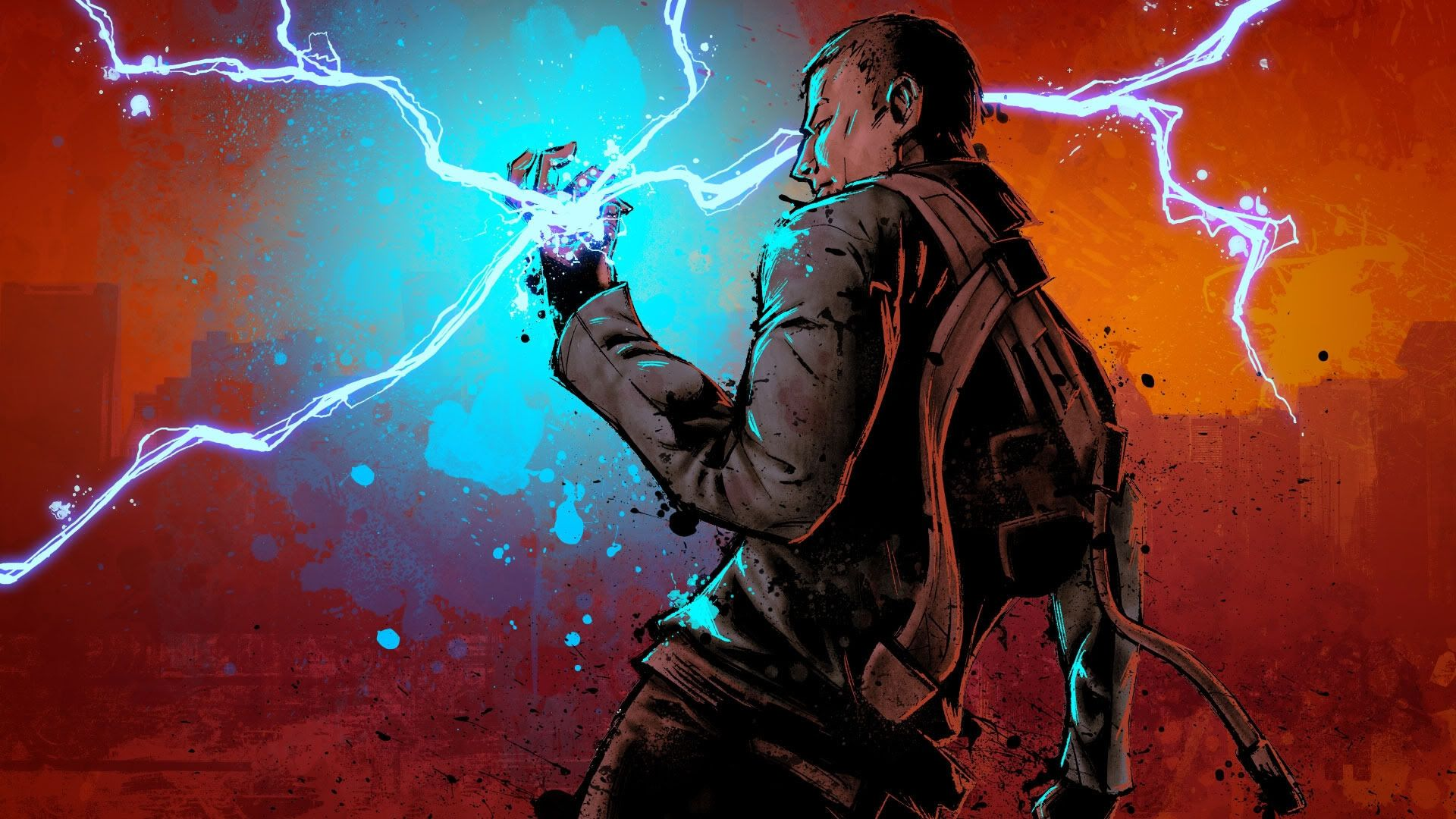 Wallpaper Infamous Picture Cole Electricity Hand Download Image Wallpaper