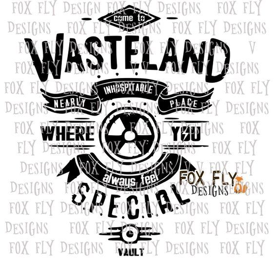 FALLOUT fallout4 wasteland fallout boy SVG Cricut Silhouette