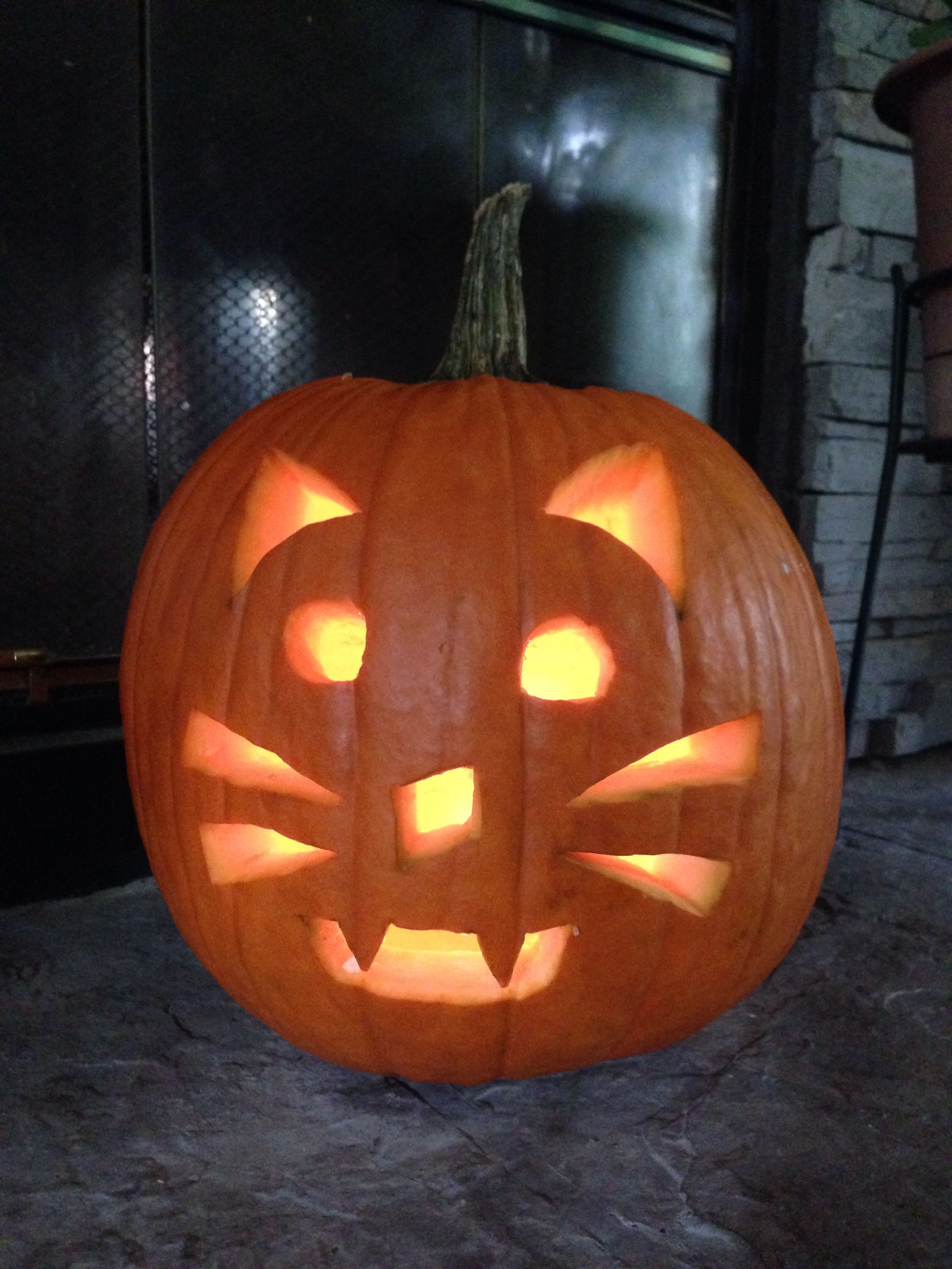 Easy Cat Jack O Lantern Stencil - cuteanimalsCat Jack O Lantern Patterns