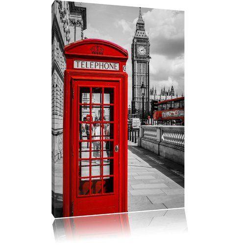 Wall Art Sticker UK RED TELEPHONE BOX