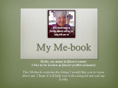 Me Book Evergreen Template The Things I Would Like You To Know