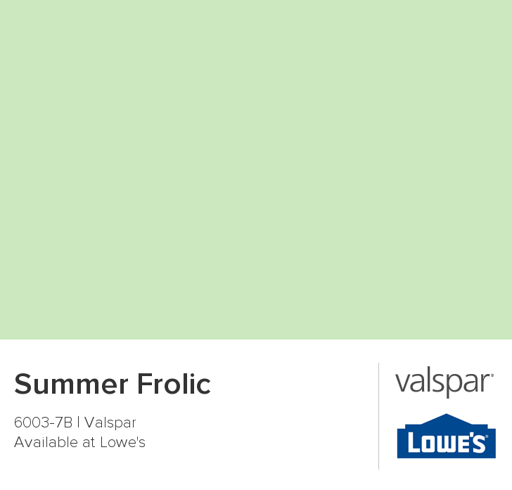 Summer Frolic from Valspar For the kitchen