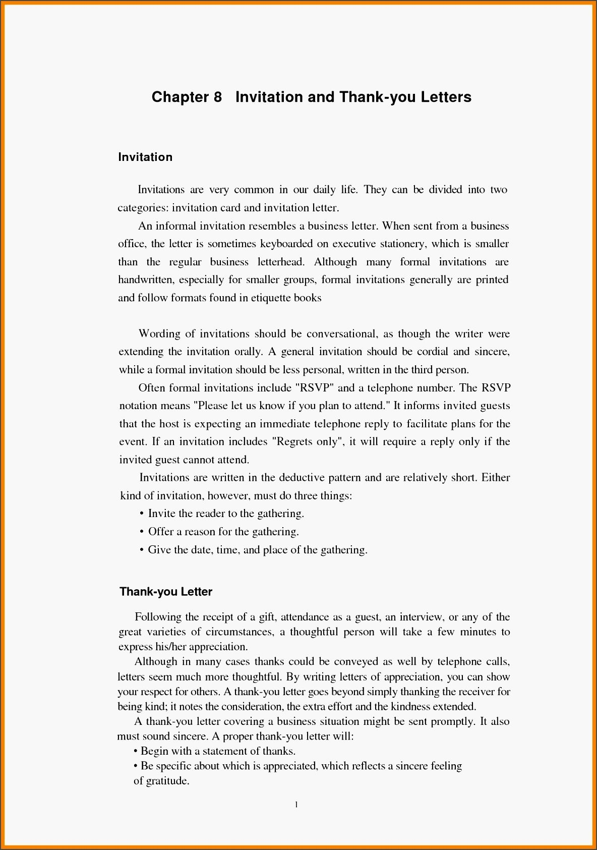 formal invitation letter format sample