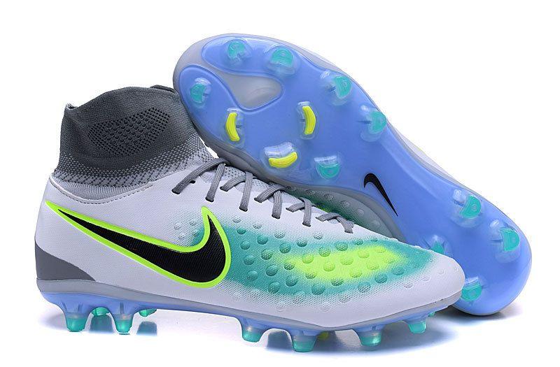 half off 5c992 ef08d Nike Magista orden II FG Grey Black Top Ankle Men Soccer Shoes