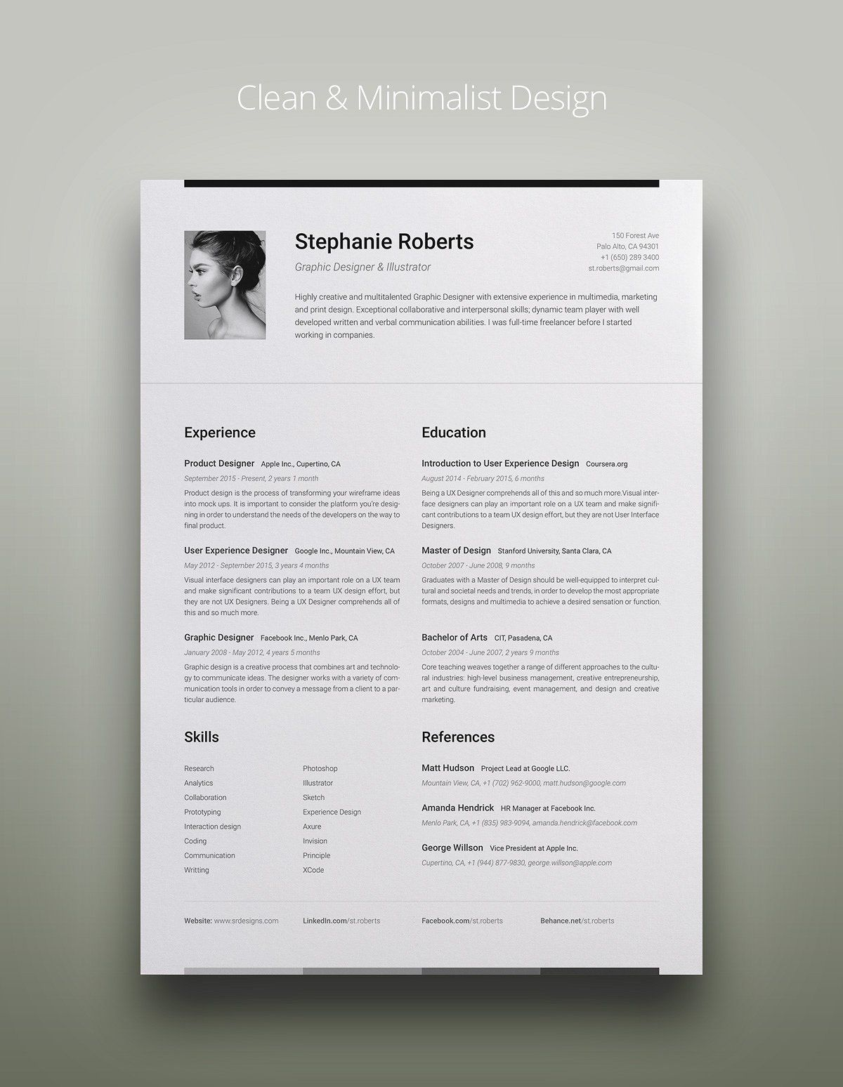 Big Set of Professional Resumes 1 Cover letter template