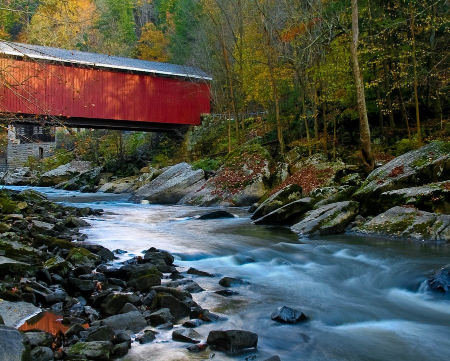 McConnells Mills Bridge by Dennis Russell on 500px