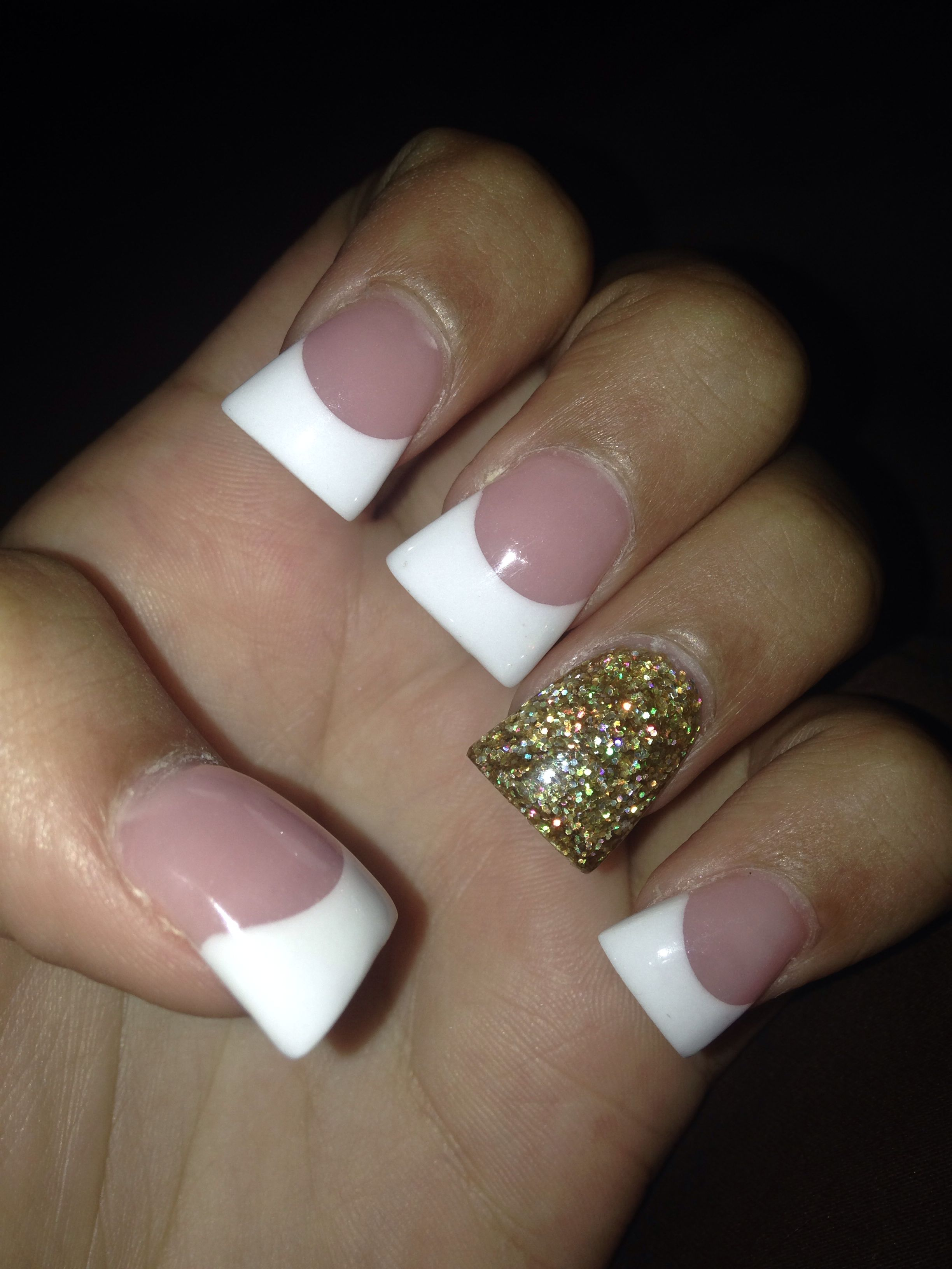 cute french tips acrylic nails. flare nails | Nails | Pinterest ...