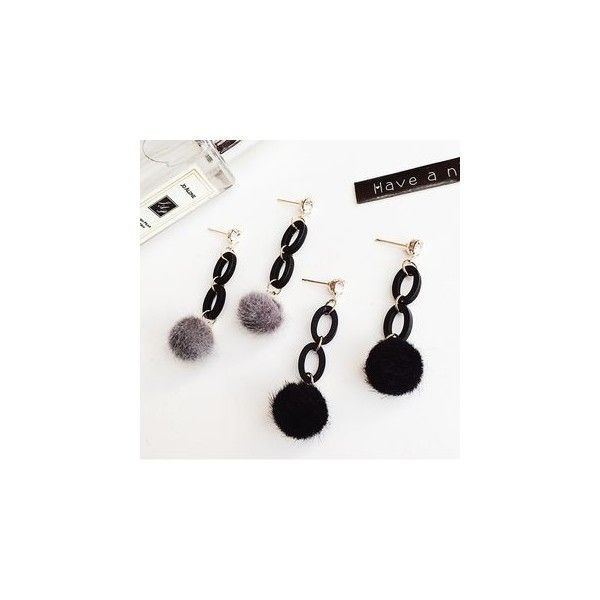 Pompom Earrings ($5.90) ❤ liked on Polyvore featuring jewelry, earrings, accessories, earring jewelry, grey jewelry, earrings jewellery, grey earrings and pom pom earrings